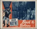 John Wayne Back to Bataan - original lobby card - 1945