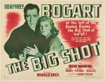 Big Shot Vintage movie poster, half sheet Humphrey Bogart