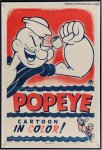 POPEYE CARTOON Original Vintage Movie Short Film Poster