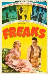 Freaks, Vintage Horror Movie Poster One Sheet, 1949