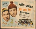 Hit the Ice Vintage Movie Poster Title Card Abbott Costello