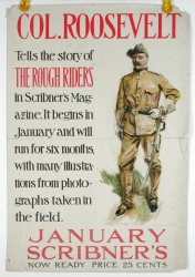 "Theodore Roosevelt Original Promotional ""ROUGH RIDERS"" Poster"