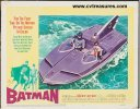 Batman original 1966 lobby card movie poster batboat