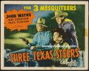 Three Texas Steers John Wayne Title Lobby Card, 1939
