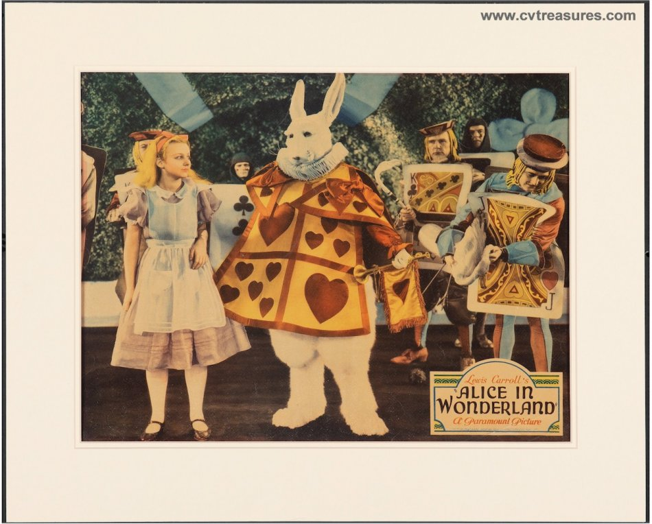 Alice in Wonderland Vintage Movie Poster JUMBO Lobby Card - Click Image to Close