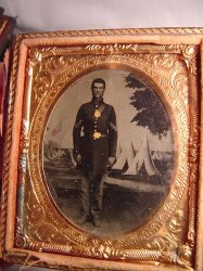 Civil War soldier 1/6 Plate Tinted Tin Type
