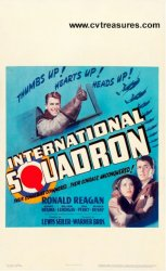 International Squadron Vintage Movie Poster Ronald Reagan WC