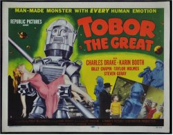 Tobor the Great Orignal Vintage Movie Poster title lobby card 54