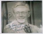 "Charles Schulz Signed Autographed Photo with ""Snoopy"" Sketch"