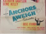 Anchors Aweigh Original Vintage Movie Poster Frank Sinatra Kelly