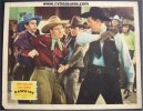 Rawhide, Lou Gehrig vintage lobby card, fight