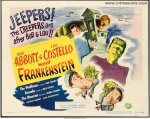 Abbott & Costello Meet Frankenstein Title Card movie poster 1948