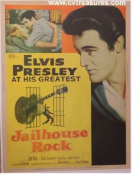 Jailhouse Rock VERY Rare Style 1 Sht movie poster Elvis Presley