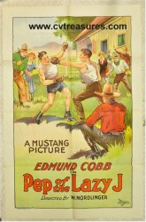 Pep of the Lazy J Vintage Movie Poster Western Boxing 1926