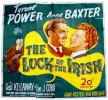 The Luck of the Irish, 1948 Tyrone Power, Anne Baxter, Six Sheet