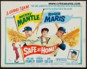 Safe at Home Vintage Title Card Autographed by Mickey Mantle