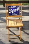 Piedmont Cigarettes Porcelain Sign Advertising Fold Chair 1920s