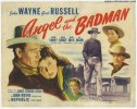 Angel and Badman Vintage Western Title Card Poster John Wayne