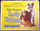 Disney's Lady and the Tramp Half Sheet Vintage Movie Poster