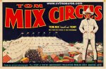 Tom Mix Original Vintage Circus Poster 1930s