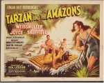 Tarzan and Amazons vintage complete Lobby Card Set ! 1945