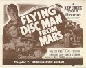 Flying Disk Man From Mars, 1950 Sci-Fi Classic Title Card