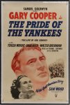 Pride of the Yankees Vintage Movie Poster One Sheet Babe Ruth Co