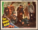 Wolf Man Vintage Horor Movie Poster Lobby Card Lon Chaney dead
