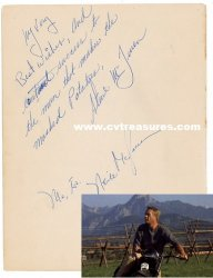 "Steve McQueen Autograph During ""Great Escape"" Filming"