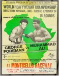 Muhammad Ali George Foreman original fight boxing poster 1974