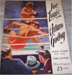 Joe Louis vs Godoy - Vintage Boxing Program 1940
