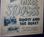 Three 3 Stooges Vintage Movie Poster Booty and the Beast 1953