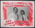Key Largo Vintage Lobby Card Movie Poster Bogart Becall Robinson