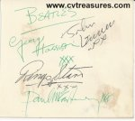BEATLES Rare Autographs Signed IN-Person March 1963