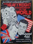 Muhammad Ali vs Brian London, boxing program 1966