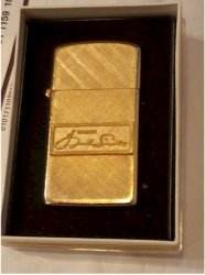 Frank Sinatra Personal Owned Gold Cigarette Lighter, & Box