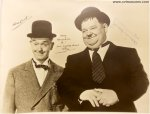 LAUREL & HARDY Gorgeous Autographed Signed Photo Stan Oliver