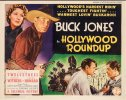 Hollywood Roundup Vintage Title Card Movie Poster Buck Jones