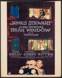 Rear Window Hitchcock Vintage Window Card Movie Poster