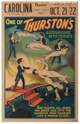 Howard Thurston ORIGINAL Vintage Magic Performance Poster 1935