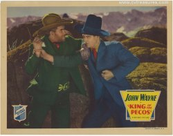 KING OF THE PECOS Vintage Western Lobby Card Poster John Wayne