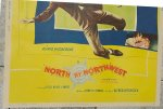 Hitchcock's North by Northwest Vintage Movie Poster Cary Grant