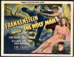 Frankenstein Meets Wolf Man Vintage Horor Movie Poster Lobby