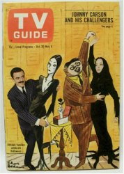 Addams Family TV Guide Oct 1965 Nice NO Label !