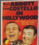 Abbott & Costello in Hollywood vintage insert movie poster 1945