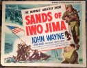 Sands of Iwo Jima Original Vintage Movie Poster Half Sheet