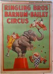 Circus Poster Vintage Ringling Bros. and Barnum and Bailey Eleph