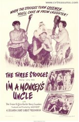 I'm a Monkey's Uncle Original Vintage Movie Poster Three Stooges