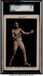 Jack Johnson Vintage Graded Postcard Vintage Boxing Memorabilia