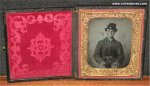 Civil War Soldier Photo Ambrotype Memorabilia w/Revolver